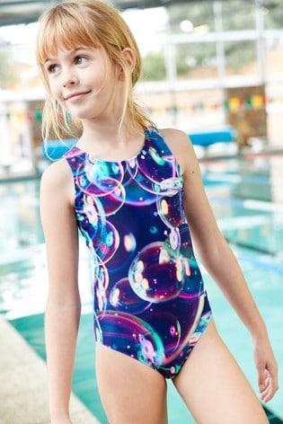 Bubble Print Sports Swimsuit (3-16yrs)