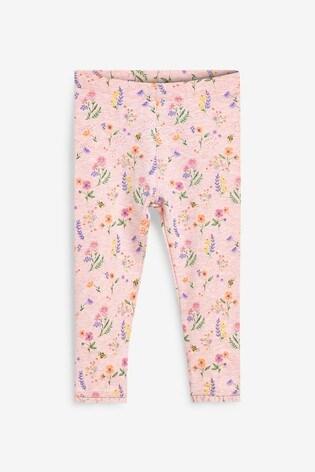 Pink Ditsy Leggings (3mths-7yrs)