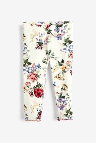 Ecru Floral Leggings (3mths-7yrs)