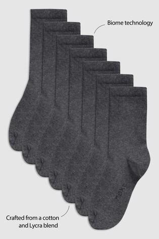 Grey 7 Pack School Socks (Older)