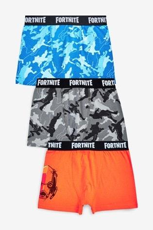 Multi 3 Pack Fortnite Trunks (9-16yrs)