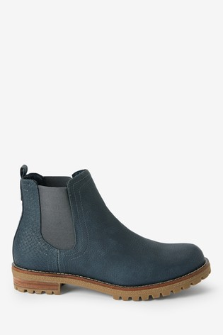 Navy Forever Comfort® Casual Chunky Chelsea Boots