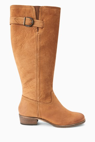 best cheap get new excellent quality Buy Tan Regular/Wide Fit Forever Comfort® Casual Knee High Boots ...