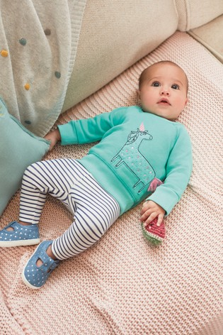 Teal 2 Piece Bright Unicorn Sweater Set (0mths-2yrs)