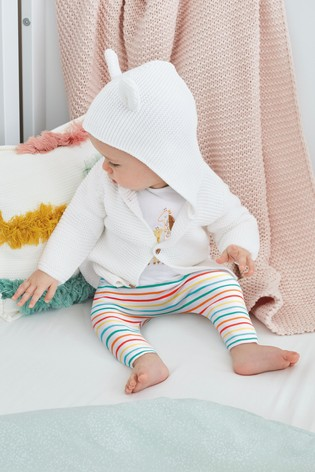 White Character Hooded Cardigan (0mths-2yrs)