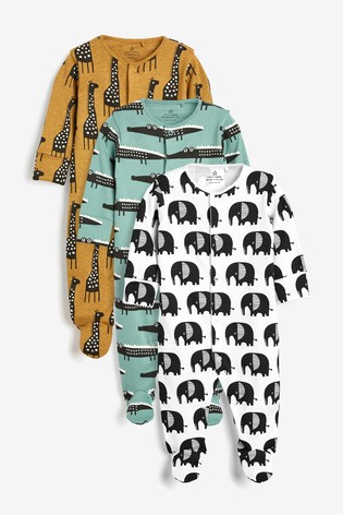 Ochre 3 Pack Character Sleepsuits (0mths-2yrs)