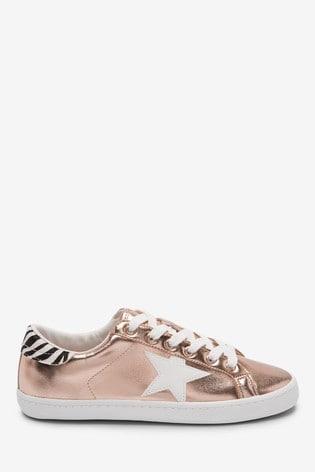 Buy Rose Gold Metallic Star Lace-Up