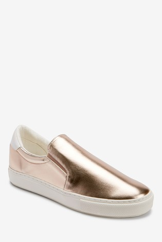 rose gold slip on trainers cheap online