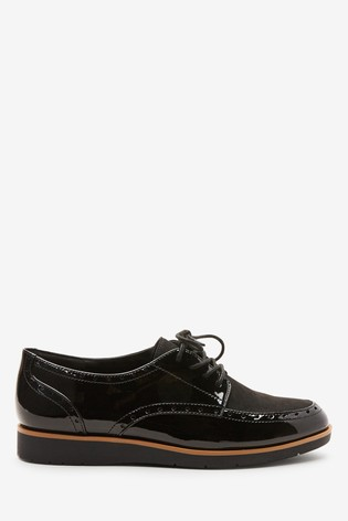 Black Forever Comfort® Brogue Detail Chunky Sole Lace-Ups