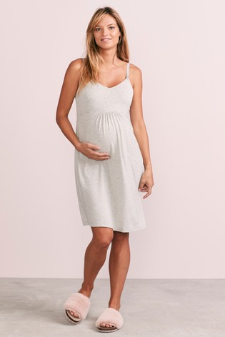 Grey Stripe Modal Maternity Nursing Slip