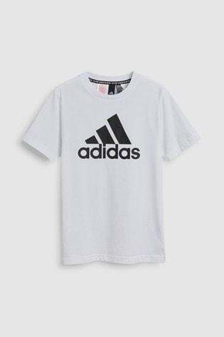 adidas Badge Of Sport White T Shirt
