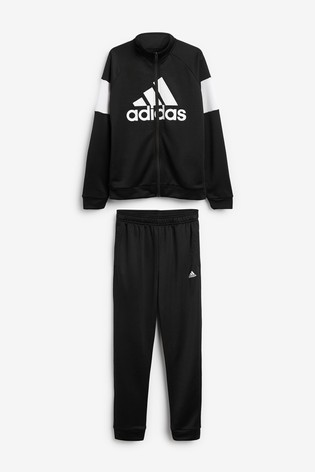 adidas Black/White Badge Of Sport Tracksuit