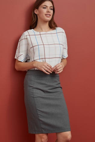 Grey Marl Tailored Fit Skirt