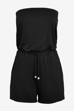 Black Bandeau Playsuit