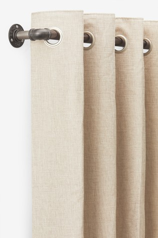 Gunmetal Effect Extendable Shoreditch 28mm Curtain Pole Kit