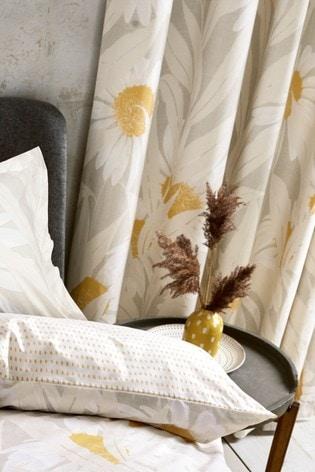 Reversible Modern Daisy Duvet Cover and Pillowcase Set
