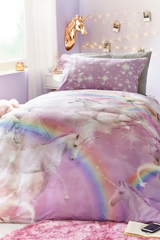 Buy Digital Printed Unicorn Duvet Cover And Pillowcase Set From
