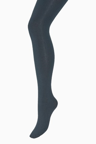 Navy Knitted Tights Two Pack