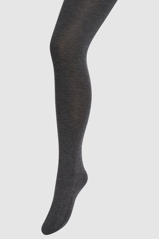 Charcoal Knitted Tights Two Pack