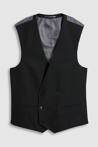 Black Suit: Double Breasted Waistcoat