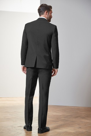 Black Regular Fit Tollegno Signature Suit Jacket