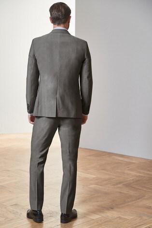 Light Grey Slim Fit Tollegno Signature Suit: Jacket