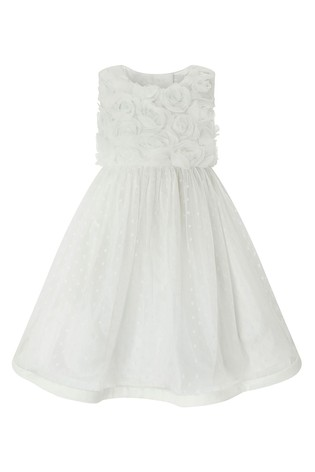 Monsoon Baby Ivory Blossom Rose Dress