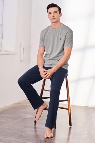Grey Jersey Long Pyjama Set