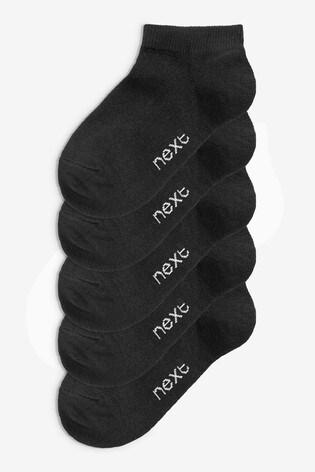 Black 5 Pack Trainer Socks