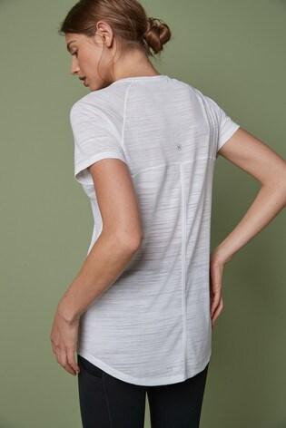 White Short Sleeve Sports T-Shirt