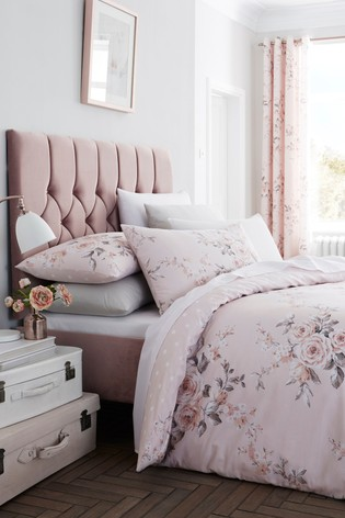 Catherine Lansfield Canterbury Glitter Print Duvet Cover and Pillowcase Set