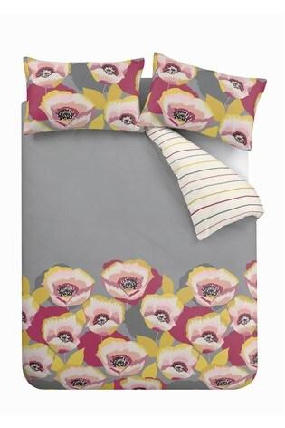 Catherine Lansfield Modernist Poppy Duvet Cover and Pillowcase Set