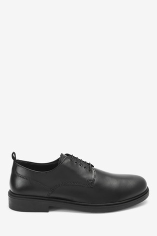 Buy Black Round Toe Derby Shoes from