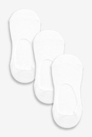 White Mesh Footsies Three Pack