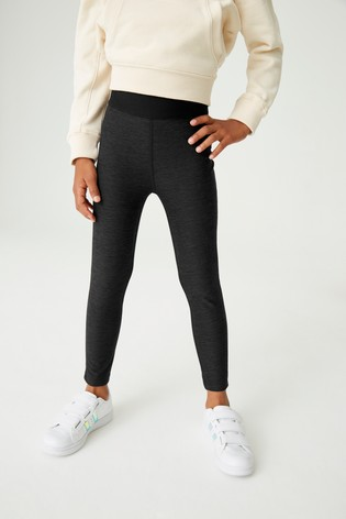 Black Marl Sports Leggings (3-16yrs)