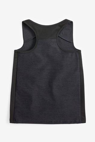 Black Sports Vest (3-16yrs)
