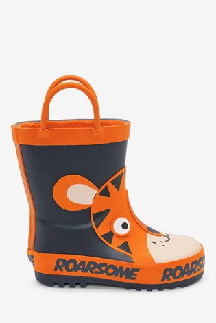 Orange Tiger Wellies (Younger)