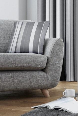 Fusion Grey Whitworth Stripe Cushion