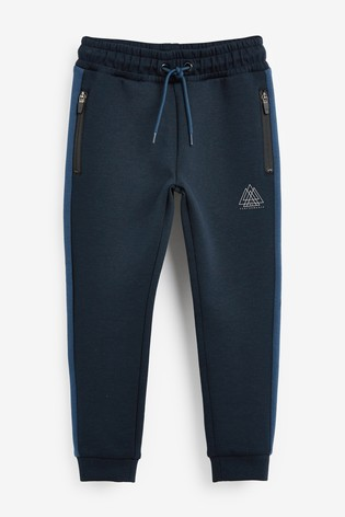 Blue Zip Sporty Joggers (3-16yrs)