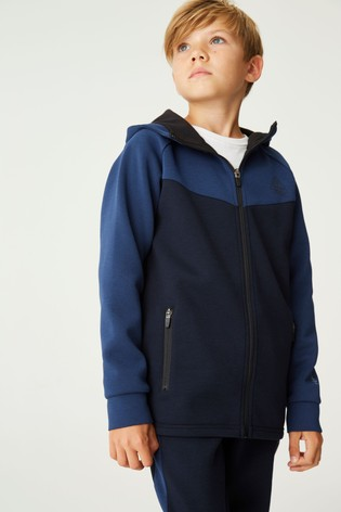 Navy Zip Sporty Hoody (3-16yrs)