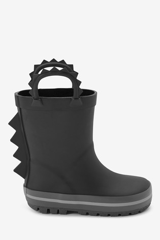 Black Spike Wellies (Younger)