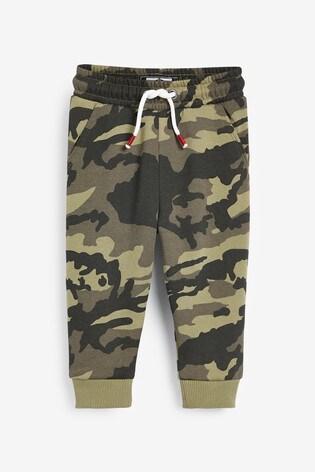 Khaki Camo Joggers Soft Touch Jersey (3mths-7yrs)