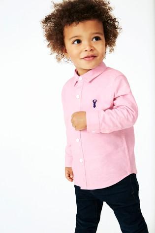 Pink Long Sleeve Oxford Shirt (3mths-7yrs)