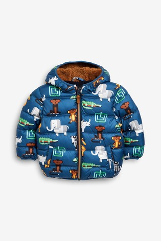 Buy Zoo Print Padded Jacket (3mths-7yrs) from Next Kuwait