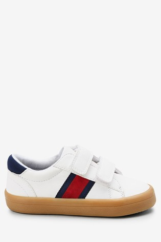 White Double Strap Shoes (Younger)
