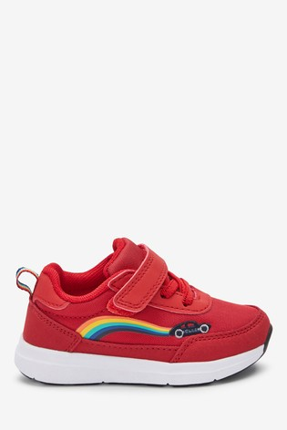 Buy Red Transport Elastic Lace Trainers