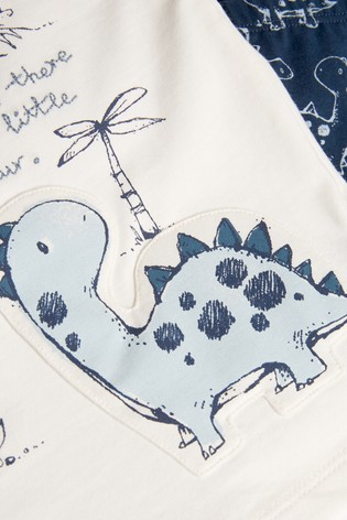 Blue Dinosaur T-Shirt And Legging Two Piece Set (0mths-3yrs)