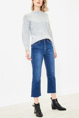 Oasis Blue Edie Straight Leg Jeans