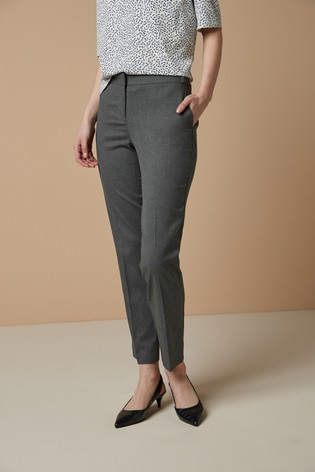 Grey Marl Tailored Slim Trousers