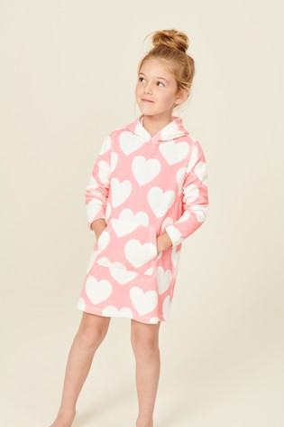 Pink Heart Towelling Tunic